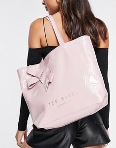 Персиковая сумка-тоут с бантом и крупным логотипом Ted Baker Nicon-Оранжевый цвет