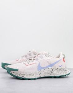 Розовые кроссовки Nike Running Pegasus Trail 3-Розовый цвет
