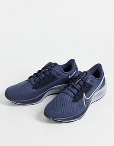 Темно-синие кроссовки Nike Running Air Zoom Pegasus 38-Голубой