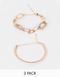 Комплект из броских золотистых комбинируемых браслетов ALDO Mireathiel-Золотистый