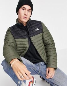 Эластичная куртка цвета хаки The North Face-Зеленый цвет