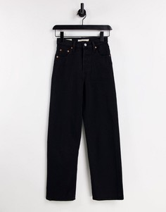 Черные джинсы до щиколотки Levis Ribcage-Черный цвет