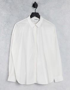 Белая рубашка с длинными рукавами из органического хлопка Selected Femme-Белый