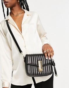 Черная сумка через плечо с золотистой отделкой и цепочкой со змеей ALDO Premium Ybeaswen-Черный цвет