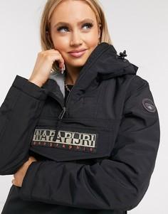 Черная зимняя куртка Napapijri-Черный цвет