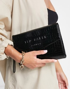 Черный клатч-конверт Ted Baker Crocey-Черный цвет