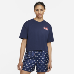 Женская футболка с коротким рукавом Paris Saint-Germain - Синий Nike