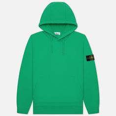 Мужская толстовка Stone Island Brushed Cotton Fleece Hoodie, цвет зелёный, размер S