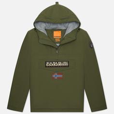 Мужская куртка анорак Napapijri Rainforest Winter 2, цвет оливковый, размер L