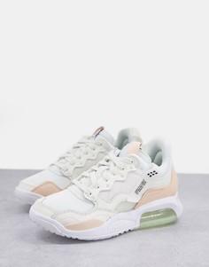 Кремово-коралловые кроссовки Jordan MA2-Белый