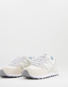 Кремово-серые кроссовки New Balance 574-Светло-бежевый цвет