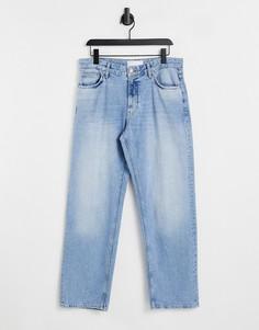 Голубые мешковатые джинсы Bershka-Голубой