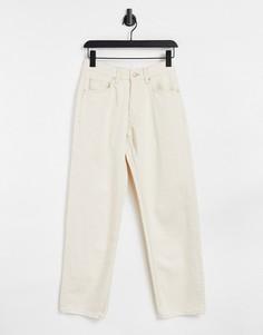 Светло-бежевые мешковатые джинсы в стиле oversized Bershka-Светло-бежевый цвет