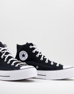 Черные высокие кроссовки на слоеной подошве Converse Chuck Taylor All Star-Черный цвет
