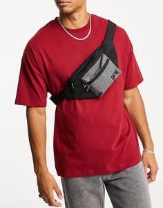 Черная поясная сумка с карманом Ben Sherman-Черный цвет