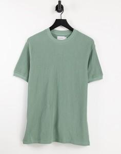 Зеленая oversized-футболка в вельветовый рубчик Topman-Зеленый цвет