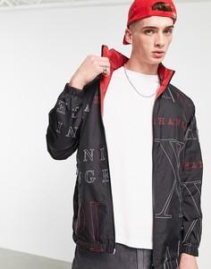 Черная куртка с принтом Armani Exchange-Черный цвет