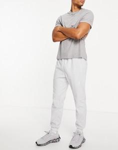 Серые флисовые джоггеры с логотипом Reebok Training-Серый