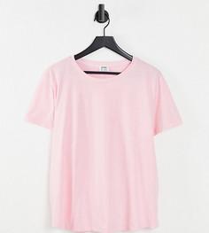 Розовая футболка с круглым вырезом Cotton:On Curve-Розовый цвет