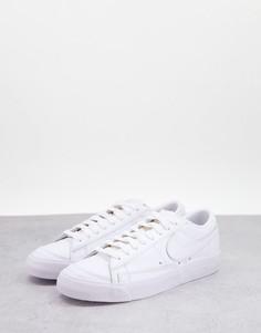 Белые низкие кроссовки Nike Blazer-Белый