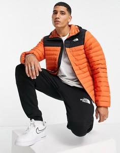Оранжевый пуховик из эластичной ткани с капюшоном The North Face-Оранжевый цвет