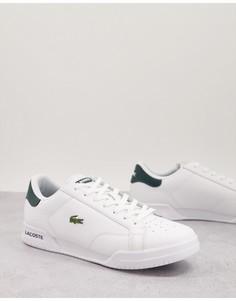 Бело-зеленые кроссовки Lacoste Twin Serve-Белый