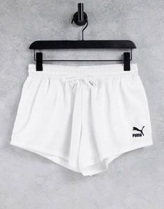 Белые атласные шорты PUMA Summer Luxe-Белый