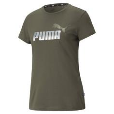 Футболка Essentials+ Metallic Logo Womens Tee Puma