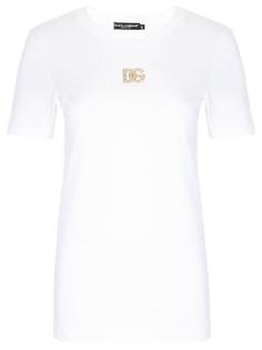 Футболка хлопковая с логотипом Dolce & Gabbana