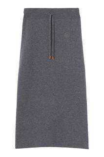 Серая трикотажная юбка-карандаш Burberry