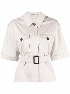 S Max Mara рубашка с короткими рукавами и поясом