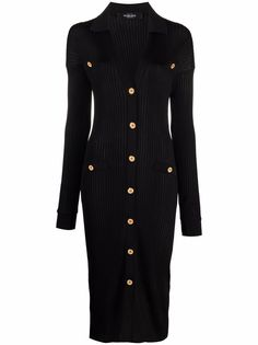 Versace платье в рубчик на пуговицах