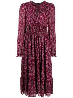 Pinko платье миди с принтом пейсли