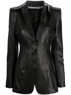 Alexander Wang удлиненный кожаный пиджак