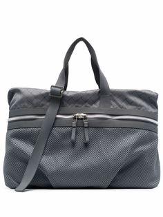 Bottega Veneta жаккардовая сумка-тоут с сетчатой вставкой