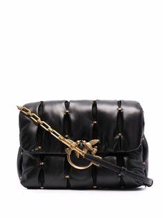 Pinko стеганая сумка на плечо с заклепками