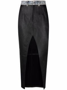 Alexander Wang юбка с разрезом