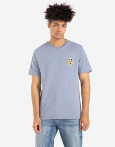 Голубая футболка с вышивкой Gloria Jeans