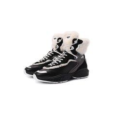Кожаные кроссовки Shegoes Valentino