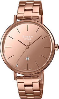 Японские наручные женские часы Casio SHE-4544PG-4AUDF. Коллекция Sheen