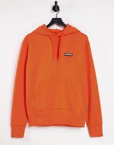 Оранжевый худи с нашивкой Napapijri-Оранжевый цвет