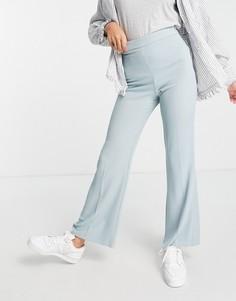 Голубые расклешенные брюки классического кроя от комплекта River Island-Голубой