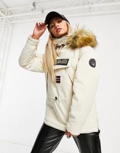 Куртка кремового цвета с капюшоном Napapijri Skidoo-Белый