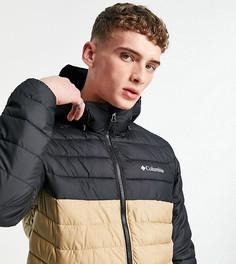 Черно-бежевая куртка с капюшоном Columbia Power Lite – эксклюзивно для ASOS-Черный цвет