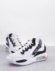 Бело-черные кроссовки Jordan MA2-Белый