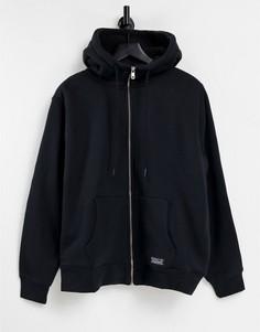 Черный худи на сквозной молнии и меховой подкладке Levis-Черный цвет