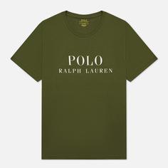 Мужская футболка Polo Ralph Lauren Crew Neck Chest Branded Sleep Top, цвет оливковый, размер XXL