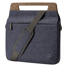 "Сумка для ноутбука 14"" HP Rwnew Brief Case, синий/коричневый [1a215aa]"