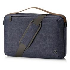 "Сумка для ноутбука 15"" HP RENEW Topload, синий/коричневый [1a218aa]"