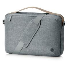 "Сумка для ноутбука 15"" HP Renew Topload, серый/коричневый [1a213aa]"